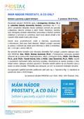 Tisková zpráva: Prostak, o.p.s. sdružení pacientů s onemocněním rakoviny prostaty